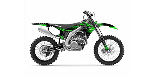 Kit Deco Motocross Kawasaki KXF 450 Incredible Edition Verde Cromo 2006-2022