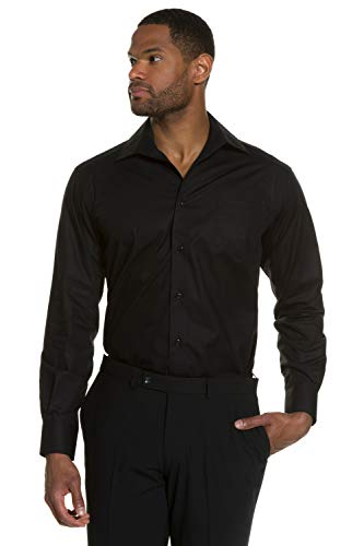 JP 1880 Homme Grandes Tailles L-8XL Chemise Droite, Manches Longues Noir 3XL 703633 10-3XL