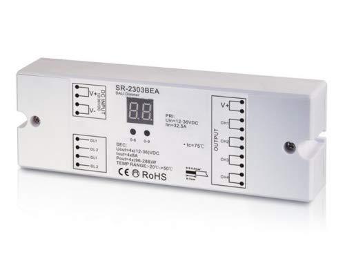 YULED SR-2303BEA DALI LED Controller 4-Kanal 4x5A max. 20A Adresse einstellbar 12-36V R-G-B-W für LED Streifen