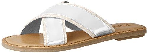 TOMS - Sandale Textile Viv Novelty Femme, 35.5 EUR, Silver Specchio