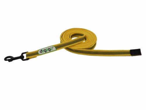 dogogo 13000-01 Gummierte Leine ohne Schlaufe, gelb