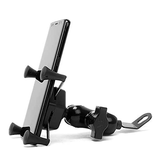 NAINAIWANG Soporte Movil Bicicleta Metalizado teléfono Manillar Abrazadera Ajustable para Montaje Celular para Motocicleta Compatible Universal con rotación 360 4.5'- 6.5' Teléfono Celular