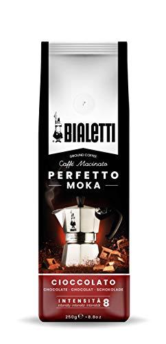 Bialetti Perfetto Moka Caffè Macinato, Gusto Cioccolato - 1...