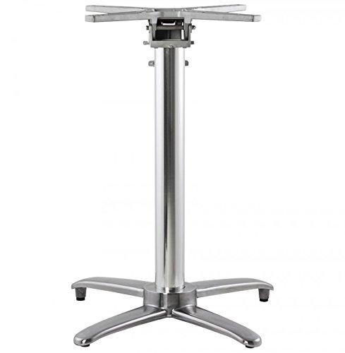 Clear Seat Pied de Table (sans Plateau) 75cm ALU 62x62x74 cm