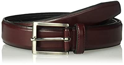 Florsheim Men's Carmine 33mm Dress Casual Leather Belt, Burgundy, 36