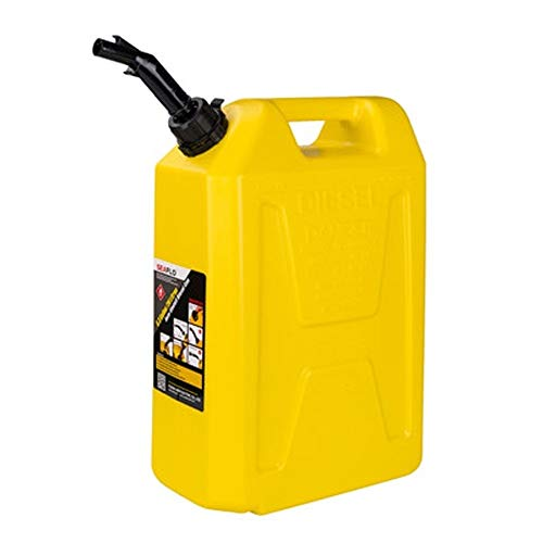CHQYY Treibstofftank Kraftstofftanks Kunststoff Ölfass - Druck Benzin Barrel Eisen Barrel Portable Diesel Pot Injection Barrel 5L 10L 20L Liter (Color : Yellow, Size : 20L)