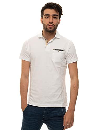 Barbour Poloshirt, kurzärmelig, Weiß, Baumwolle für Herren, Weiß XL