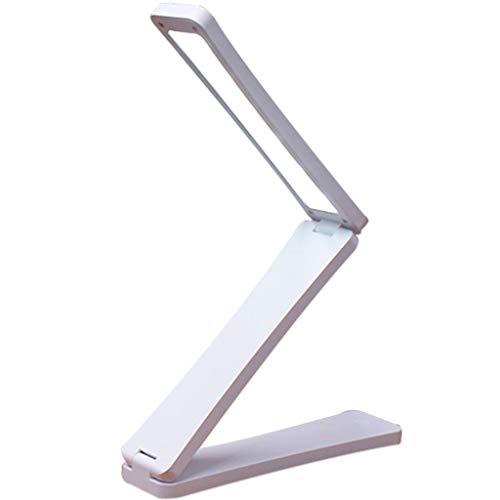 ABCWSTY Lampentabelle Solarbatterie Wiederaufladbar Faltbare und verstellbare Tischlampen mit USB-Ladeanschluss Solarleuchte Ladelampe AC220V,White-18 * 4.2 * 3cm