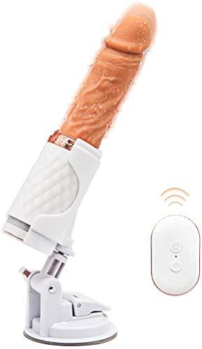 N / A Leistungsstarke automatische Schwingen 7 Vibranting Thrusting Massage mit Heizbetriebsarten Cordless Wasserdicht Saugnapf Unterwäsche T-Shirt
