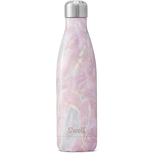 S'well Stainless Steel Water Bottle-17 Geode Rose Triple-Layered...
