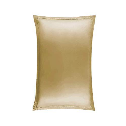 BANGSUN Funda de almohada antienvejecimiento con fibra de óxido de cobre para rejuvenecer la piel, color marrón