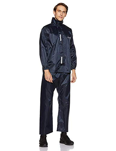 Amazon Brand - Solimo Water Resistant Polyester Rain Coat with Pant, Blue, XX Large