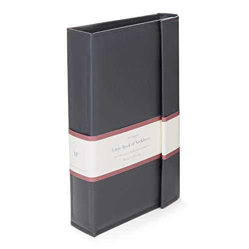 Grijs – Little Book van halskettingen – een boek voor het veilig opbergen van je kettingen.