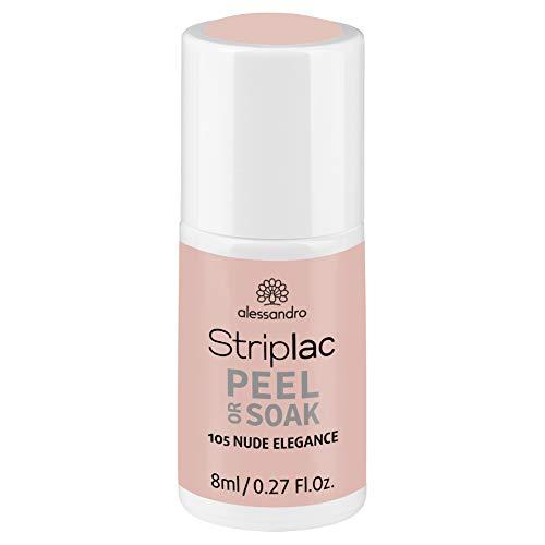 alessandro Striplac Peel or Soak Nude Elegance – LED-Nagellack in elegantem Nude – Für perfekte Nägel in 15 Minuten – 1 x 8ml