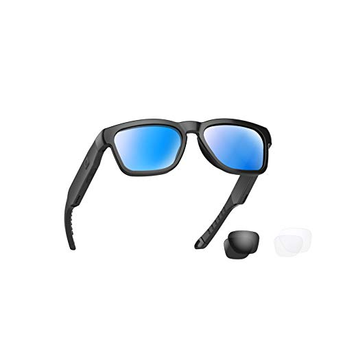 OhO Bluetooth Sunglasses,Open Ear Audio Sunglasses Speaker to Listen Music and Make Phone Calls, Water Resistance and Full UV Lens Protection and Compatiable for All Smart Phones