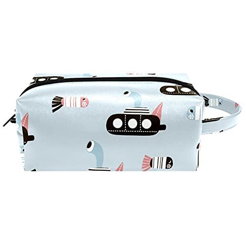 Neceser colgante bolsa de cosméticos papelería organizador bolsa portátil estuche geométrico negro blanco