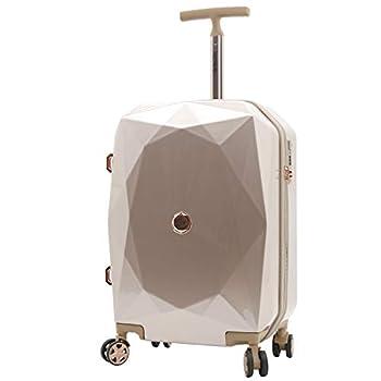 kensie Women s 3D Gemstone TSA Lock Hardside Spinner Luggage Rose Gold 20-Inch Carry-On
