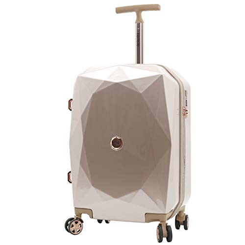 kensie Women's 2 Piece or 20' 3D Gemstone Luggage Set, Rose Gold, 20 Inch Only