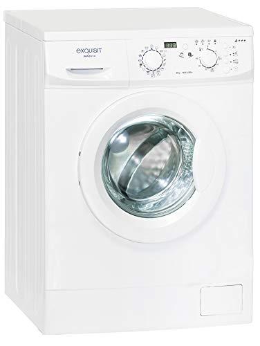 Exquisit Waschmaschine WA 8514 | Frontlader |8 kg Fassungsvermögen |weiß