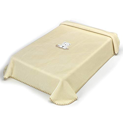 Textiles Mora Manta para Bebé Petits Plus I54 - Cuna 110X140Cm – Crudo - Mantas, unisex