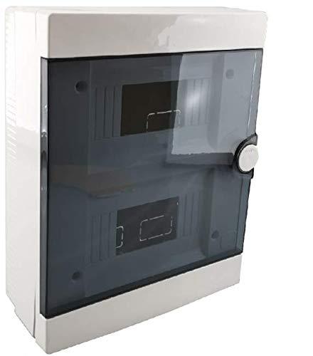 Quadro elettrico centralino da parete 16 moduli VERTICALE DIN box incasso oppure superficie scatola IP40 interruttori (Superficie)