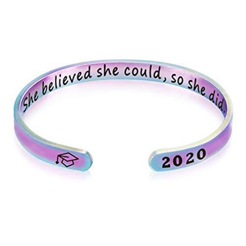 Janly Clearance Sale Pulsera para el verano de 2020, regalo de graduación escolar, pulsera de la amistad, regalo (D / talla única)