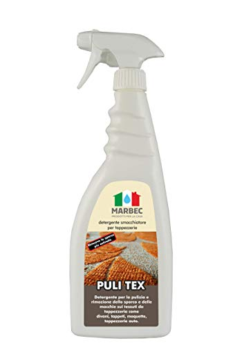 Marbec - Puli Tex 750ML   Pulitore detergente per tappezzerie, divani e Moquette