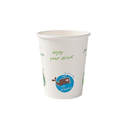 BIOZOYG Gobelet jetable Bio pour des Boissons Chaudes I Accessoires des fêtes jetables en Papier biodégradable compostable I Tasse Blanche avec Impression Comique 1000 pièces 200ml 8 oz