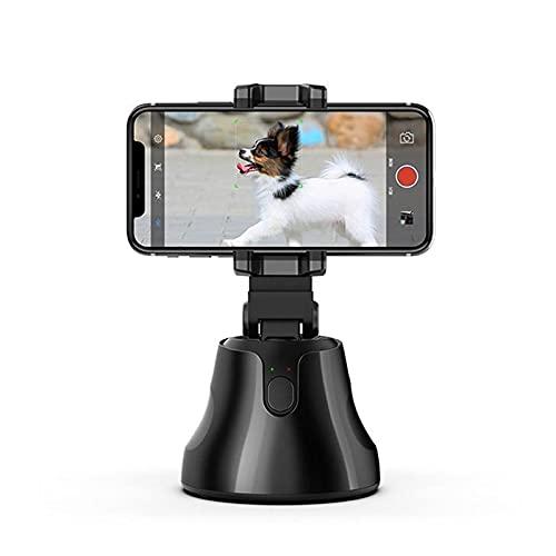 LIANGWAN Gimbal 360 Rotación Smart Face Tracking Trípode Selfie Auto Tracking Trípode Seguimiento Inteligente Rostros y Objetos Disparos Inteligentes Soporte de teléfono para cámara de Video,Black