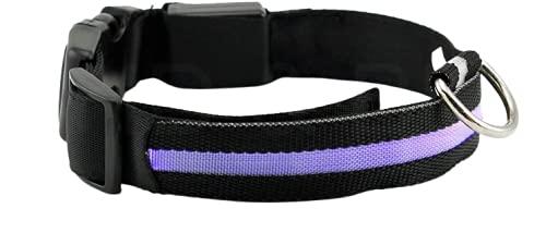 Mejor Perro Visibilidad y Seguridad – USB Batería LED Perro Seguridad Collar – LED de Pilas – se Conecta a Dispositivos – no – Gran diversión – tu Perro es más Visible y Seguro (Negro Grande)