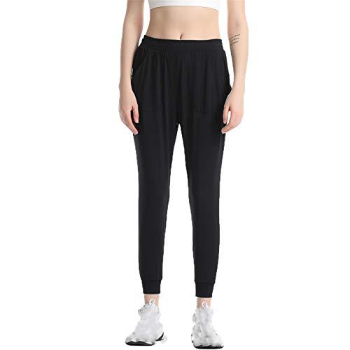Leggins Mujer Fitness Mallas Deportivo Pilates, Sensación desnuda de las mujeres sin fisuras de 7/8 longitud Leggings sueltos Pantalones de yoga sueltos Dama Fitness Gimnasio Correr Medias Rápidas Sec