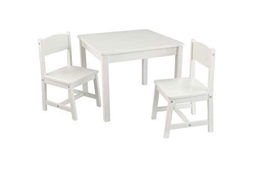 KidKraft - Tisch-Set Aspen mit 2 Stühlen – Weiß