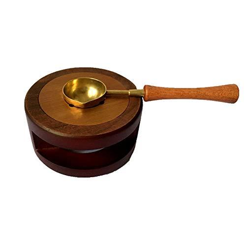 Moorlando Wax Seal Warmer, Wax Seal Furnace with Melting Spoon Kit Wax Beads Sticks Melting Tool for Wax Sealing Stamp