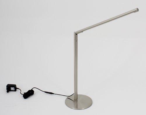 Trango TG7489-482 Design LED Tischleuchte Schreibtischleuchte Lampe mit 3000K warm-weiß SMD LED (Edelstahl-Look)
