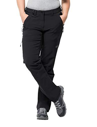 Jack Wolfskin Activate XT Damen vielseitige Damen Softshellhose, wind- und wasserabweisende Outdoorhose , Schwarz (Black) , 44