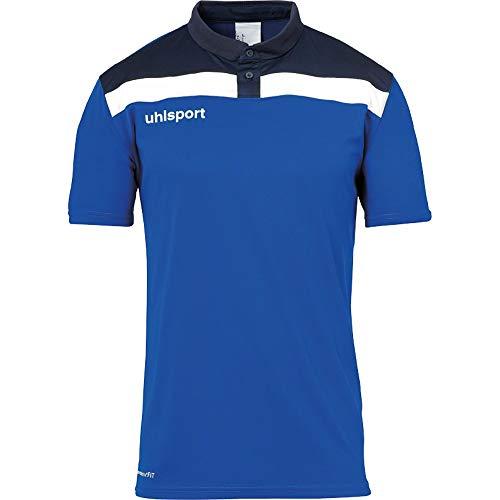 uhlsport Herren Poloshirt Offense 23 Polo Shirt, azurblau/Marine/Weiß, 5XL, 100221303