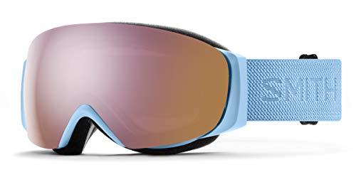 Smith I/O MAG S Snow Goggle - Smokey Blue Flood | Chromapop Everyday Rose Gold Mirror + Extra Lens