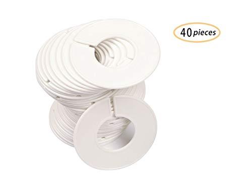 40 Pack Kleidung Rack Größe Teiler Runde Kleiderbügel Teiler Baby Kleiderschrank Größe Trenner Rund Kleidung Organisation mit 1 Stück Filzstift (40 Pack, Blank)