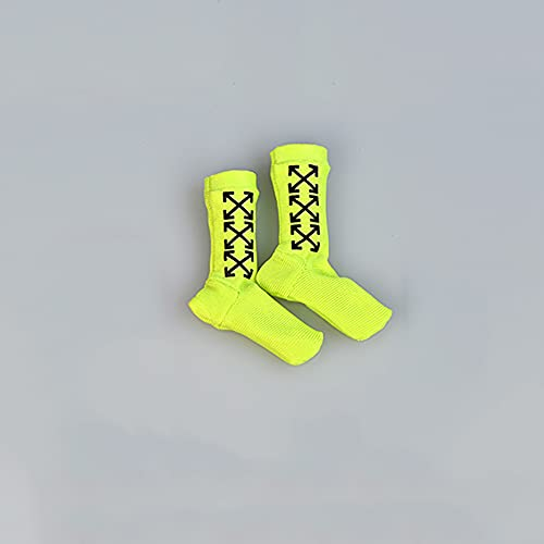 Calcetines de 1/6 para figuras de acción de 6 pulgadas, color verde