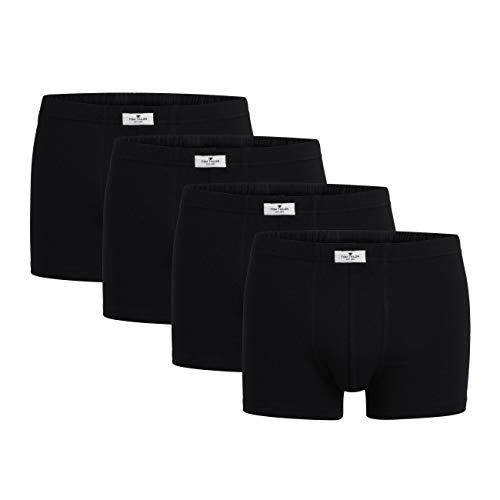 TOM TAILOR Boxershort 4er Pack Herren Basic Unterhosen aus natürlicher Baumwolle 8