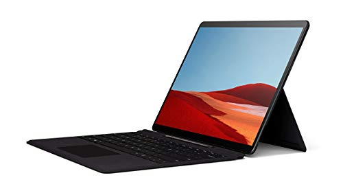 Microsoft Surface Pro X – 13' Touch-Screen – Microsoft SQ1 - 8GB Memory - 256GB Solid State Drive – WIFI + 4G LTE – Matte Black with Surface Pro X Signature Keyboard with Slim Pen, QWZ-00001 (Renewed)