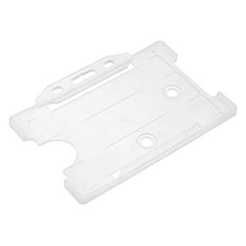 2 X 2 Doppelseitig Plastik Starr Ausweiskartenhalter Ausweishalter Halterung