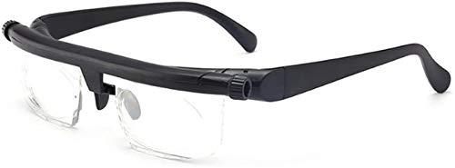 DBFISHINGREEL Einstellbare Stärke Linse Lese Myopie Brille, Brille Variable Focus Vision, Einstellbare Stärke Brille, zum Lesen Fernsicht Brillen