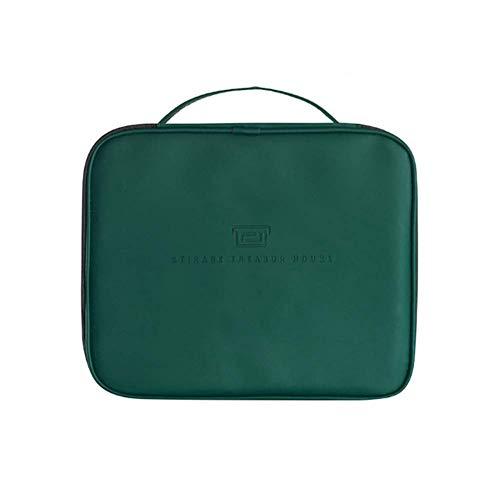 Sac Voyage Sac de toilette suspendu pliant portable étanche cosmétique Wash SackToiletry Rucksack Poignée PU vert,Vert