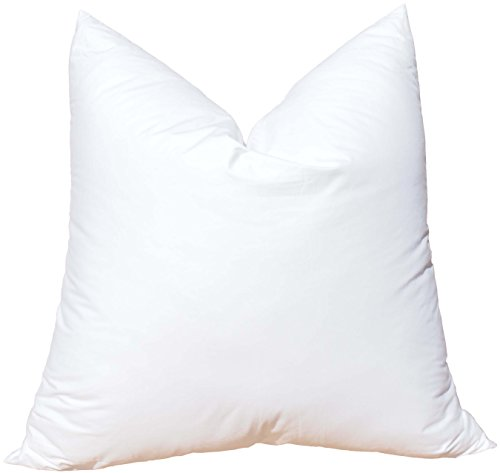 Pillowflex Synthetic Down Pillow Insert for Sham Aka Faux / Alternative (22 Inch by 22 Inch)