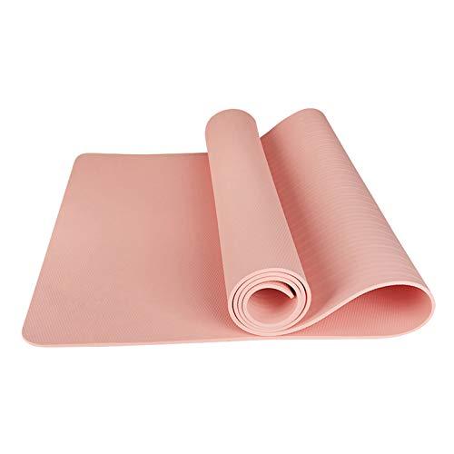 JUNKUN Estera de Yoga TPE Estera de Fitness Antideslizante La Superficie de PU Absorbe el Sudor, Rebote Antideslizante de 360 °, Adecuado para esteras de Yoga Calientes en Interiores y Exteriores