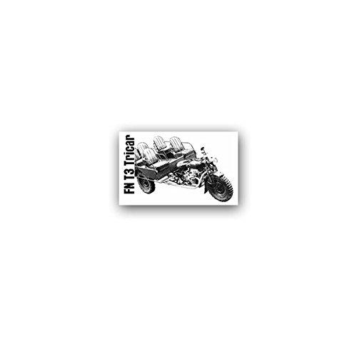 Copytec stickers/stickers FN t3 Tricar Fabrique nationale driewieler motorfiets België Liége Belgische leger Wh Wk voertuig oldtimer voertuig militair 11x7cm #A3578