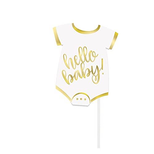 Party Bags 2 Go Kit photobooth 10 Accessori Hello Baby Oro Taglia Unica