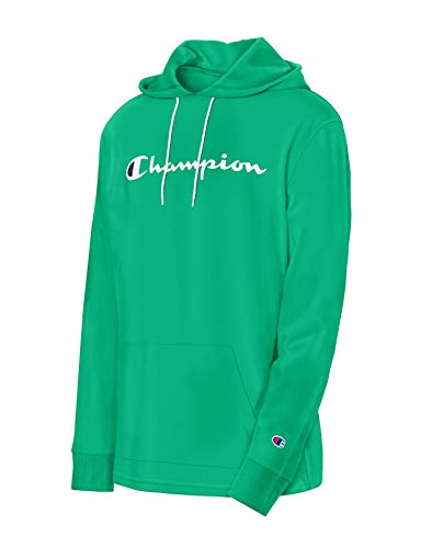 Champion Men's MIDDLEWEIGHT Hoodie, Green Myth, Large