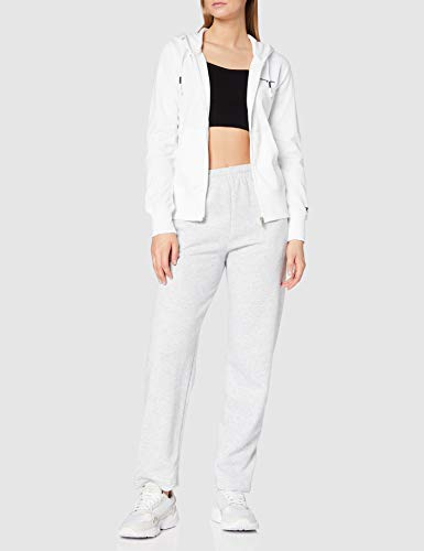 Champion Woman - Classic Small Logo Hooded Full Zip Sweatshirt - White, M